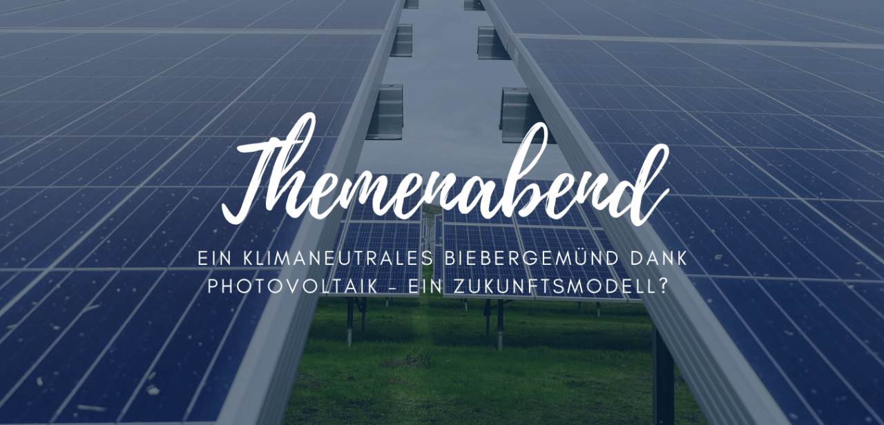 Themenabend Photovoltaik